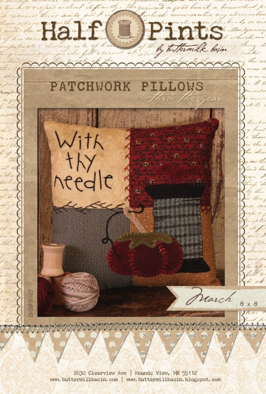 Patchwork Pillow - March (Kit with Wool)