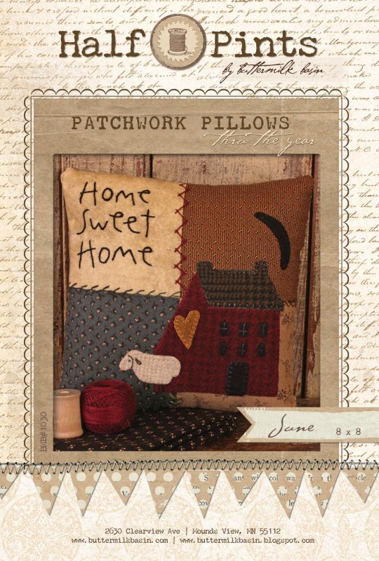 Patchwork Pillow - June