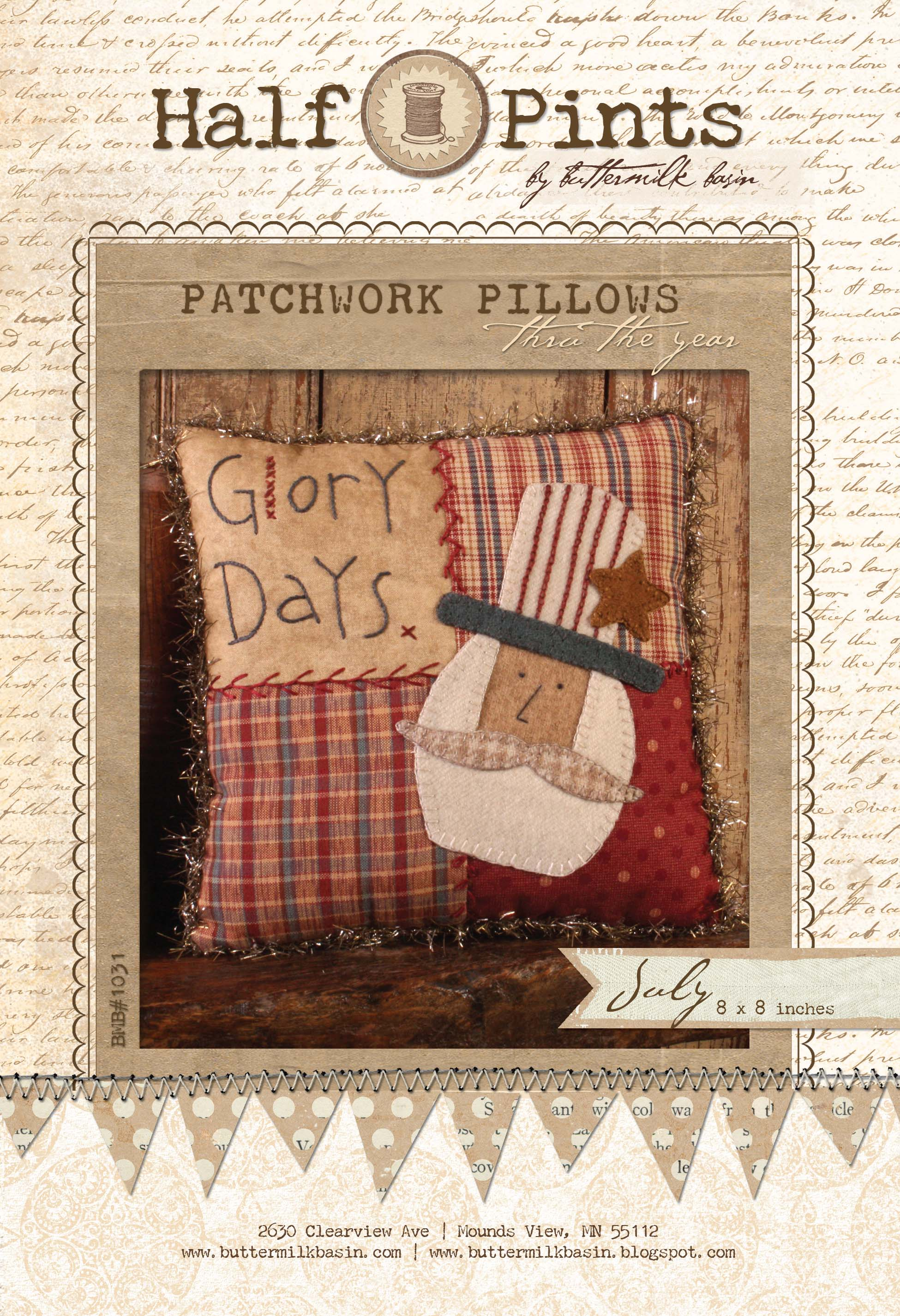 Patchwork Pillow July