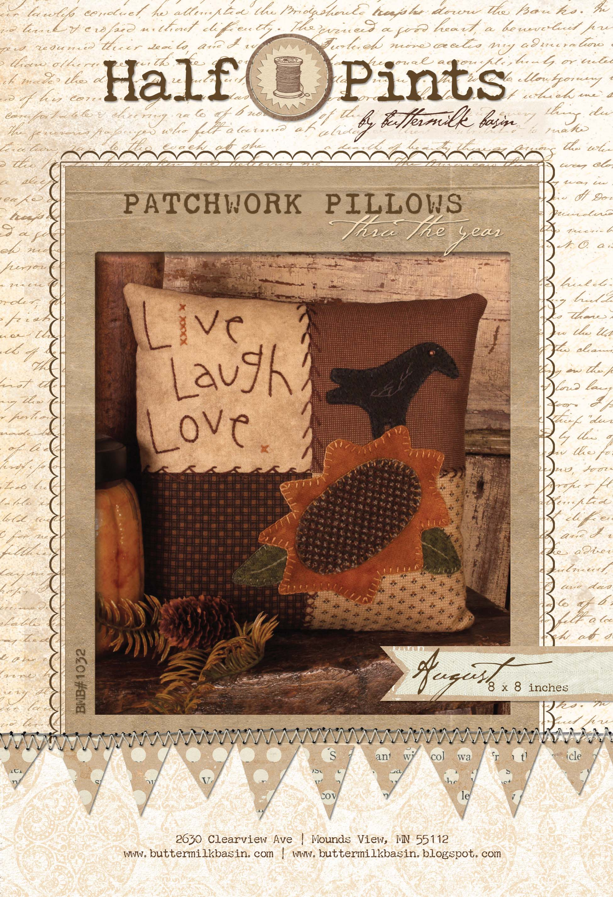 Patchwork Pillow - Aug.