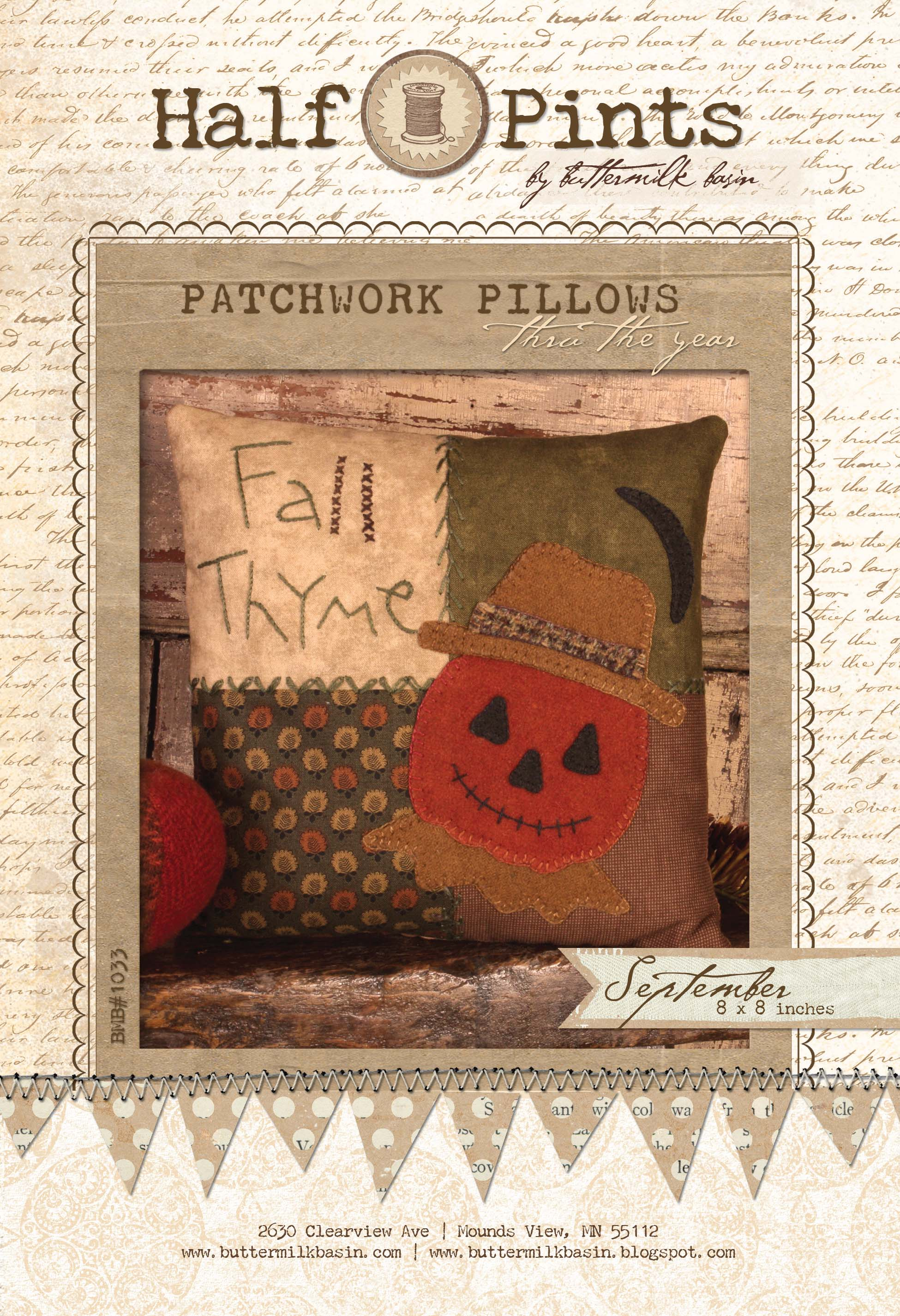 Patchwork Pillow - Sept (Kit with Wool)