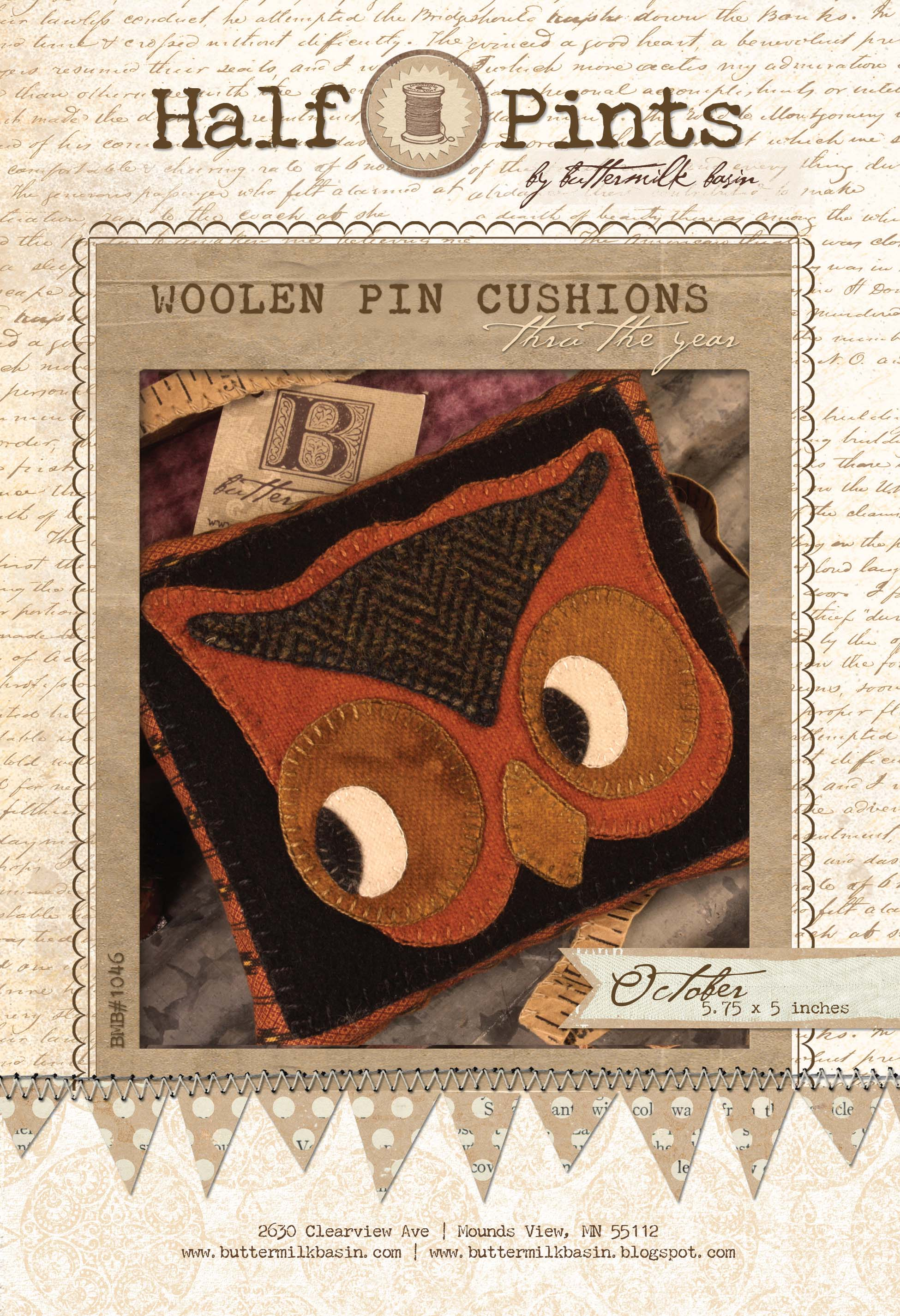 Woolen Pin Cushion - Oct.