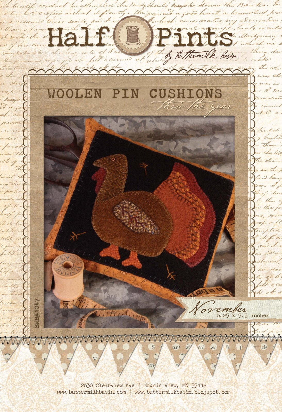 Woolen Pin Cushion - Nov.