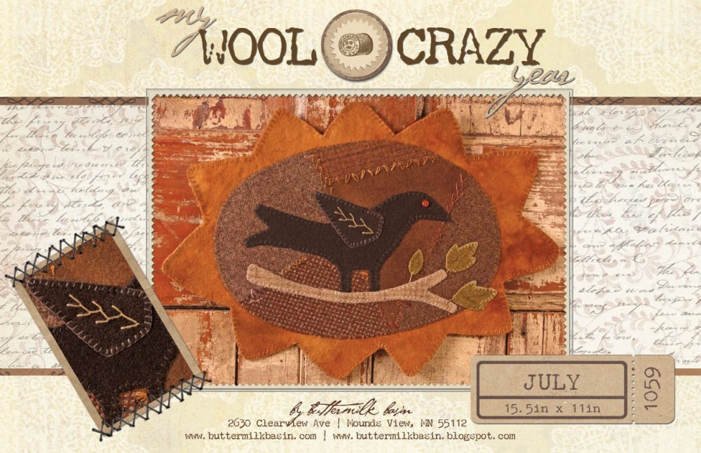 My Wool Crazy Year July * KIT and Pattern
