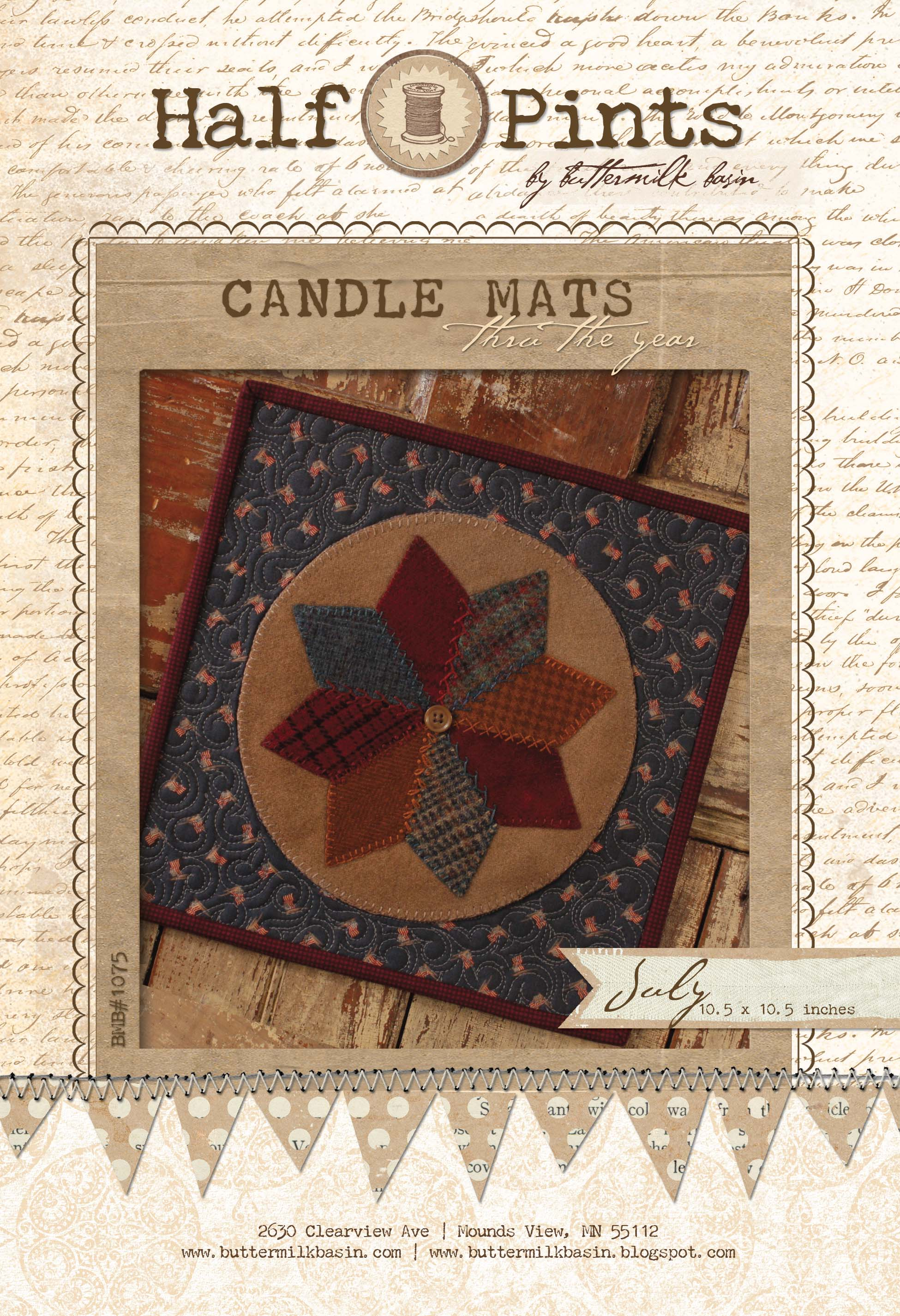 Candle Mat July