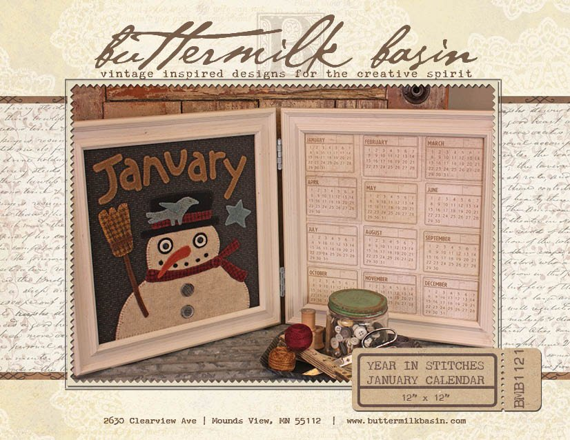 Year in Stitches: Jan Calendar