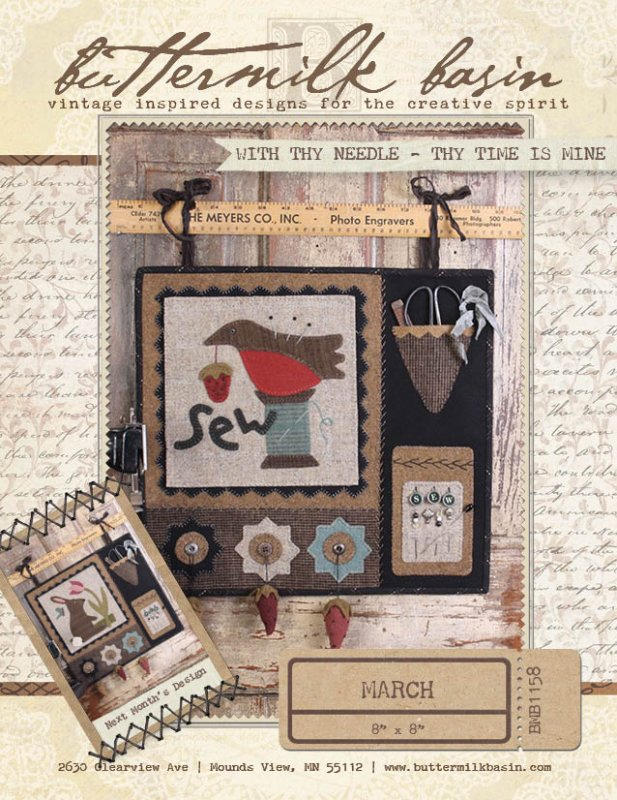 With thy Needle BOM - March Kit and Pattern