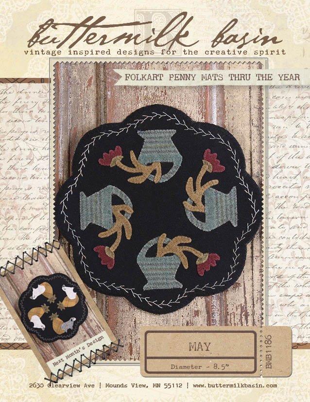Folkart Penny Mats thru the year: May * Pattern