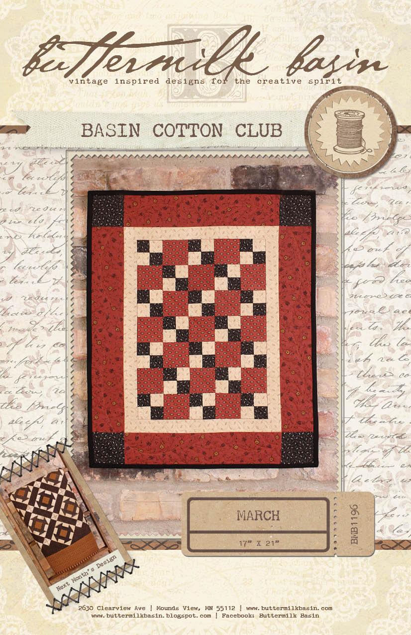 Basin Cotton Club BOM: March