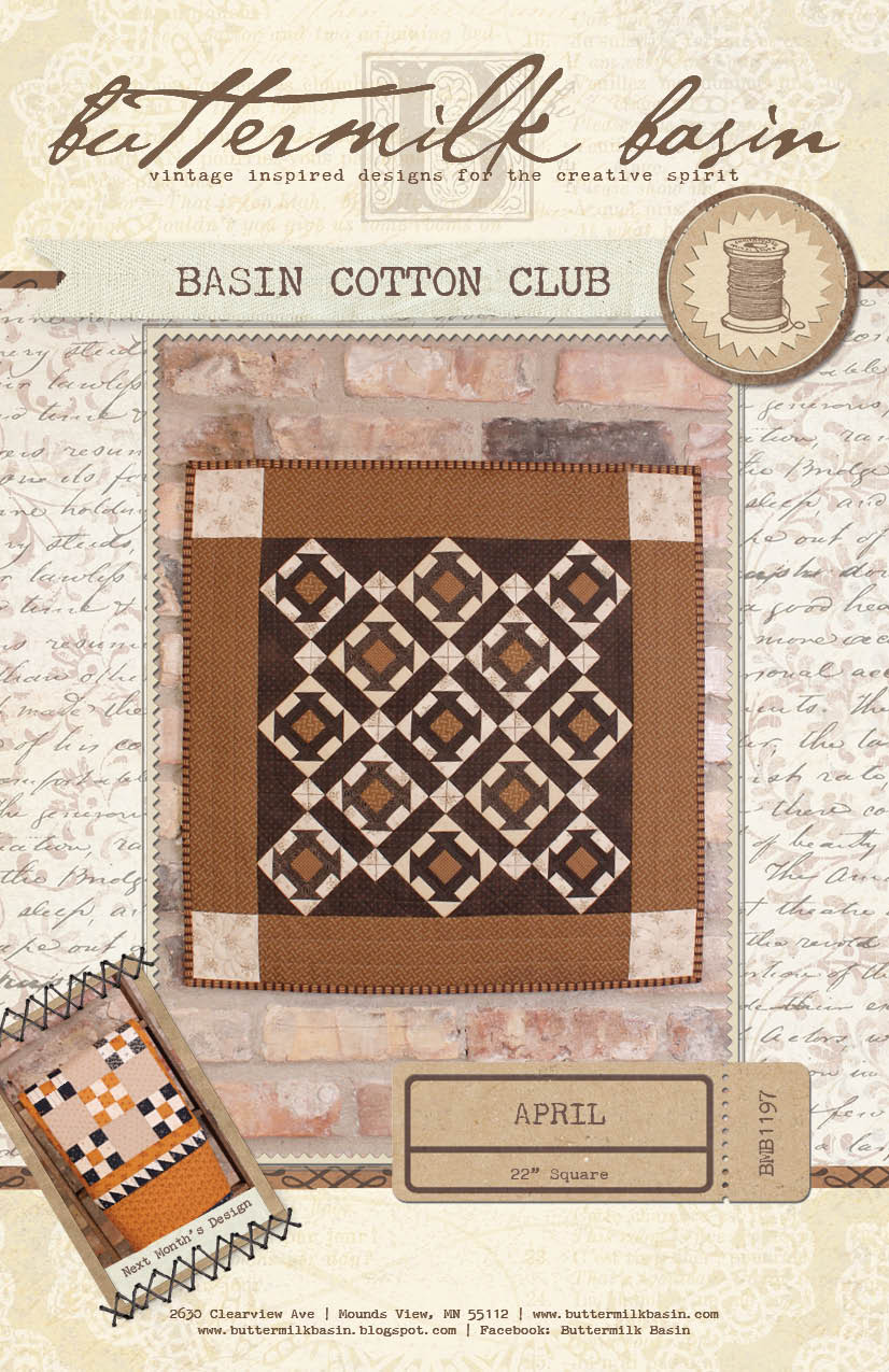 Basin Cotton Club BOM: Apr