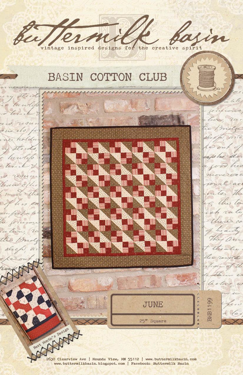 Basin Cotton Club BOM: June