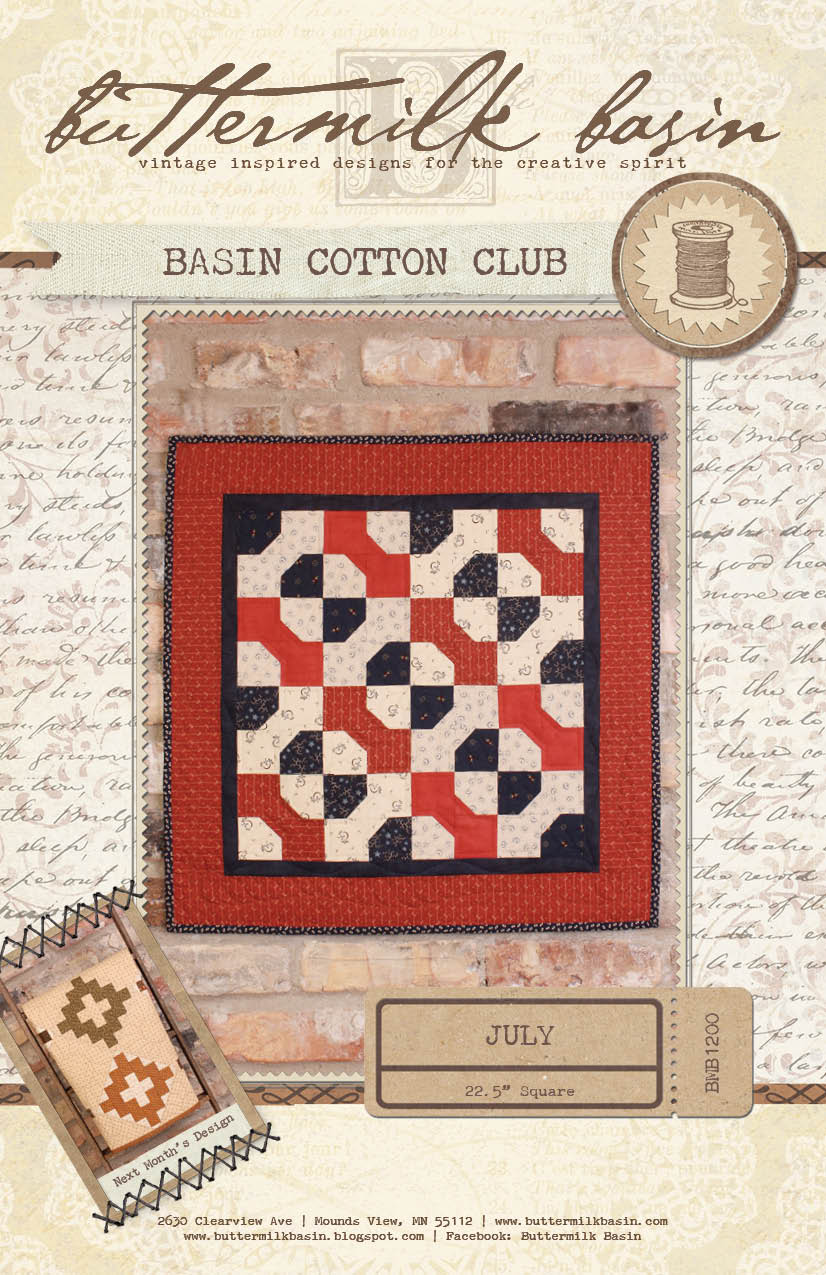 Basin Cotton Club BOM: July