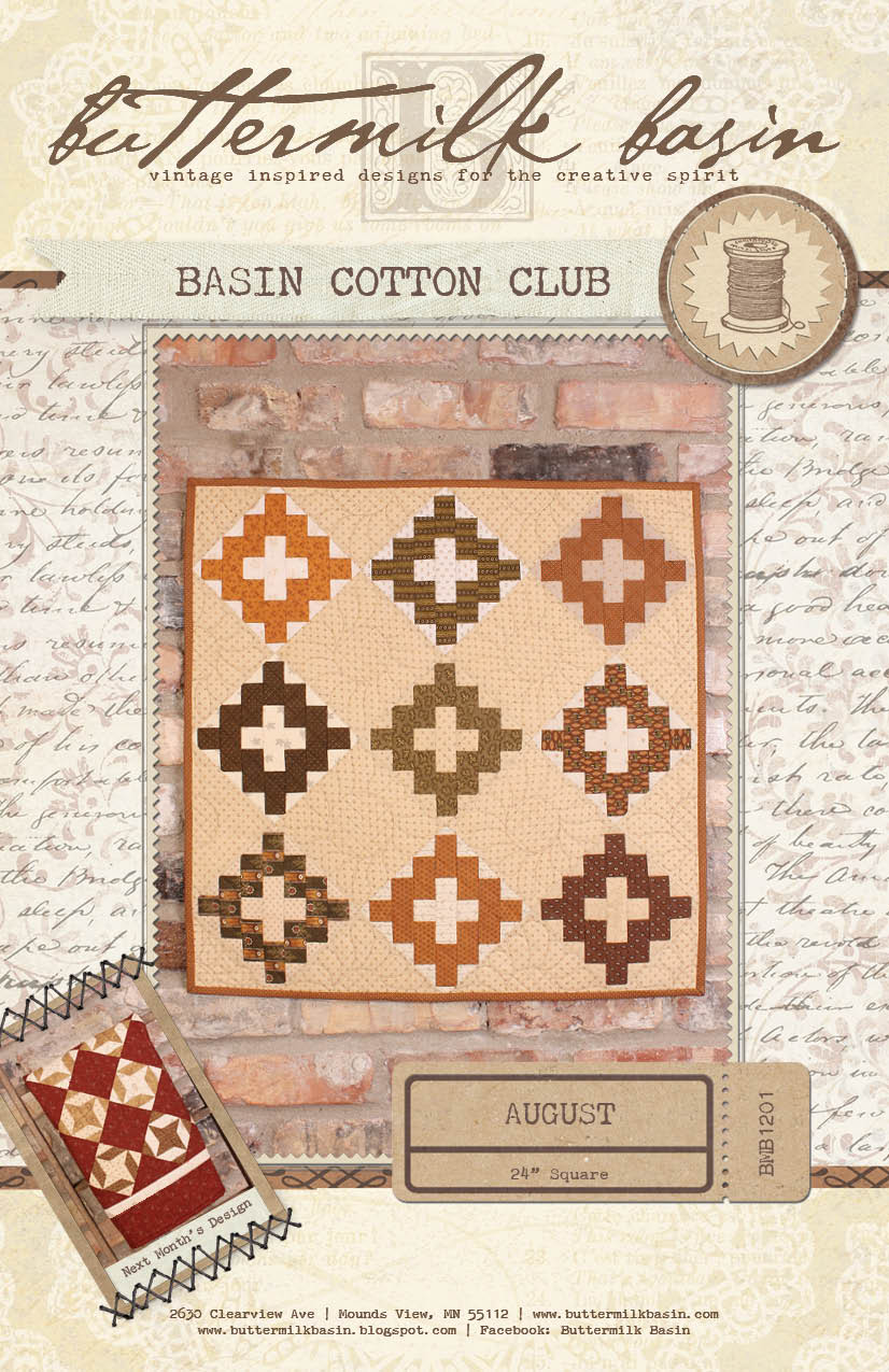 Basin Cotton Club BOM: Aug