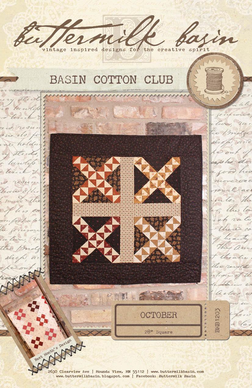 Basin Cotton Club BOM: Oct