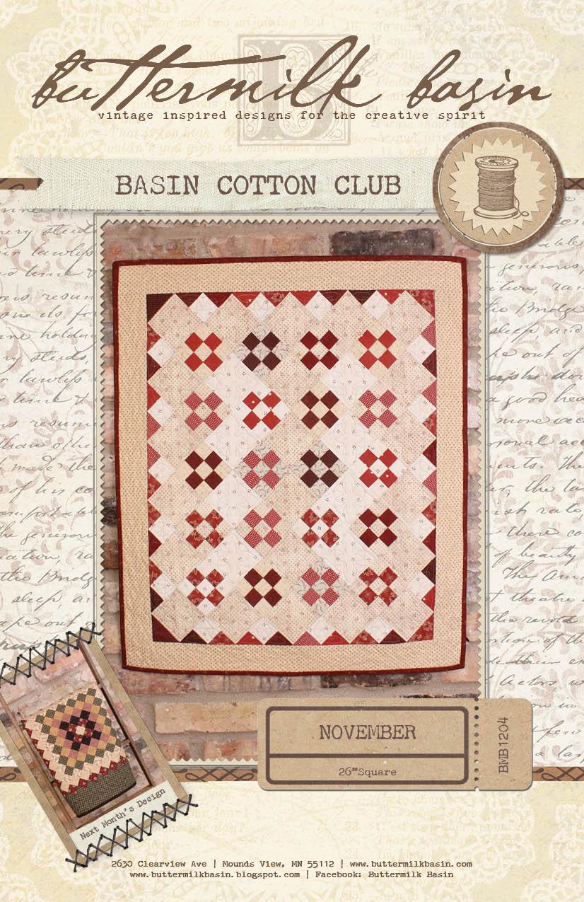 Basin Cotton Club BOM: Nov
