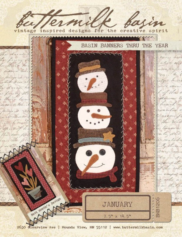 Basin Banners Thru the Year * January Kit & Pattern