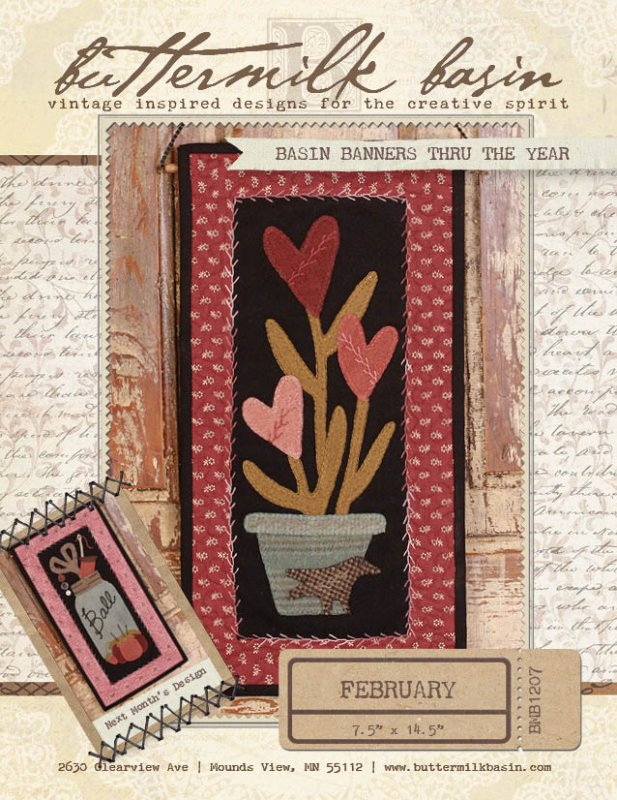 Basin Banners Thru the Year * February KIT & Pattern