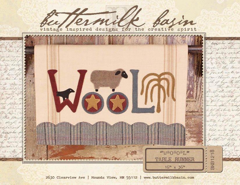 WOOL Table Runner * KIT & Pattern
