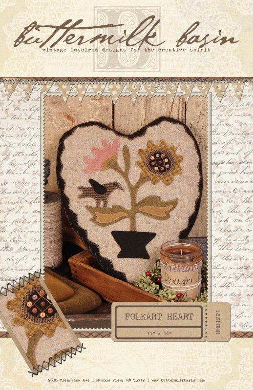 Folkart Heart * KIT and Pattern