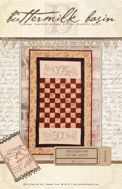 Checkerboard Sewing Quilt * Pattern