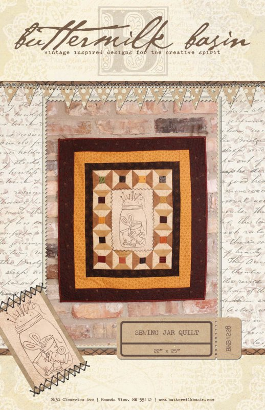 Sewing Jar Quilt * Pattern