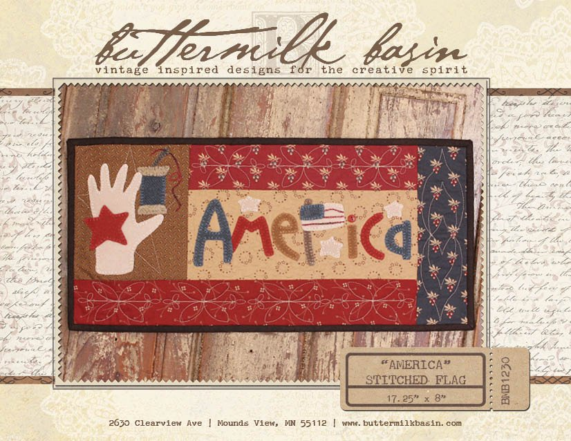 AMERICA Stitched Flag * Pattern