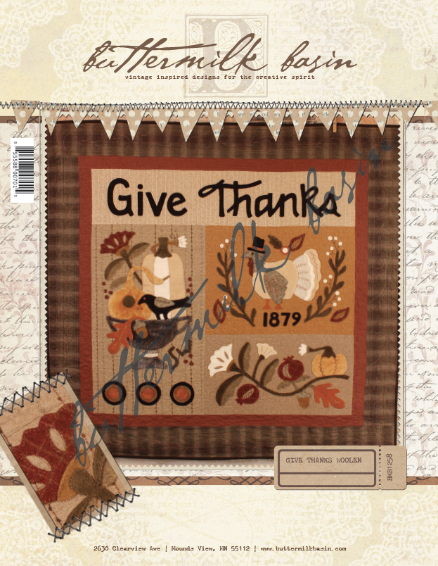 Give Thanks Woolen * Pattern