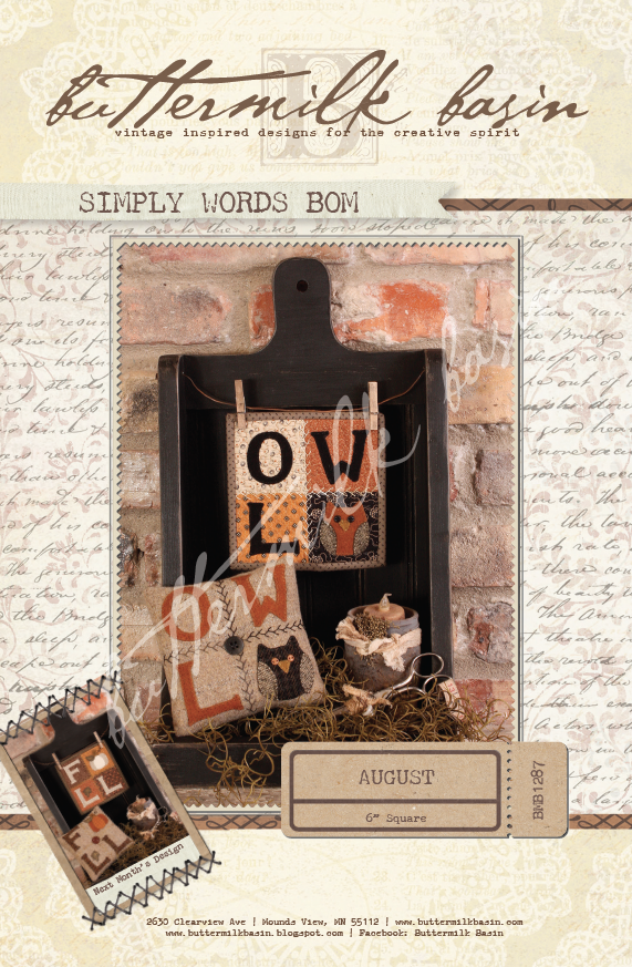 Simply Words BOM August * KIT and Pattern