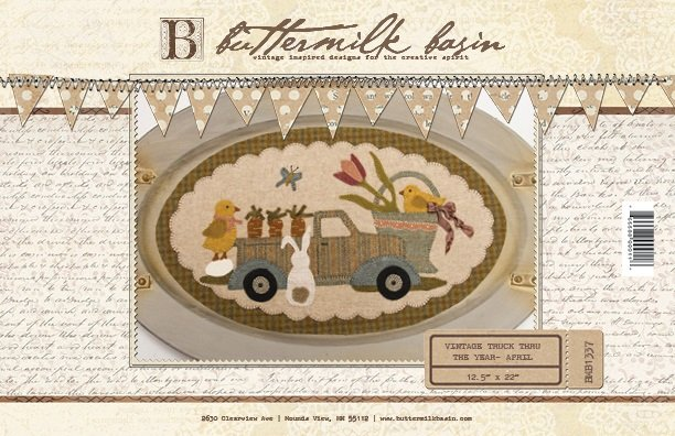 Vintage Trucks thru the Year * April KIT & Pattern
