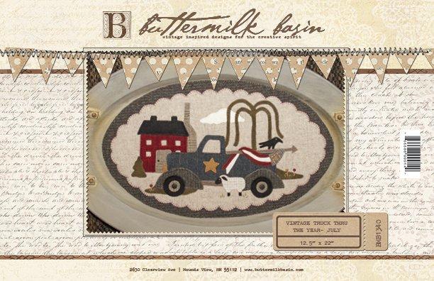 Vintage Trucks thru the Year * July Pattern
