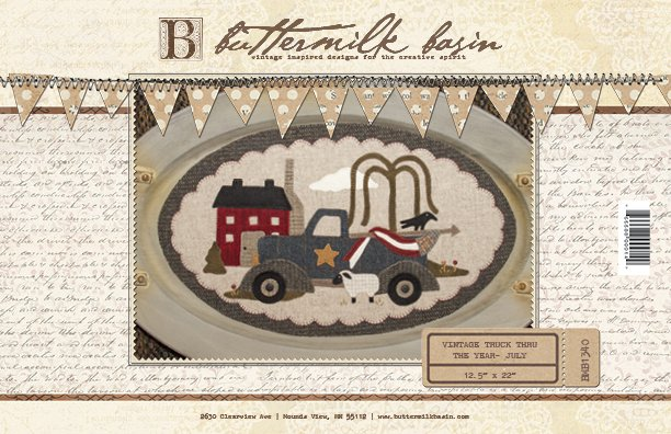 Vintage Trucks thru the Year * July KIT & Pattern