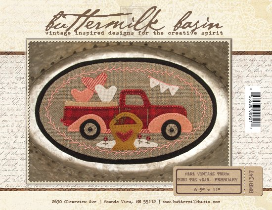 February Mini Vintage Truck thru the Year * Pattern