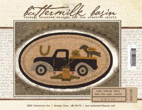 March Mini Vintage Truck thru the Year * Pattern