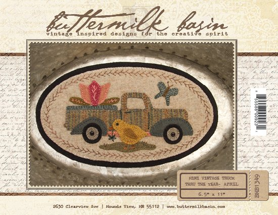 April Mini Vintage Truck thru the Year * KIT & Pattern