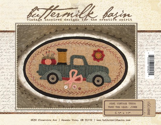 June Mini Vintage Truck thru the Year  * KIT & Pattern