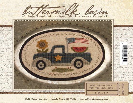 July Mini Vintage Truck thru the Year * KIT & Pattern