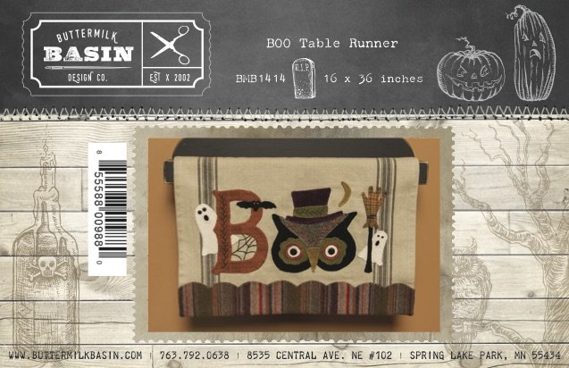 BOO Table Runner * KIT and Pattern