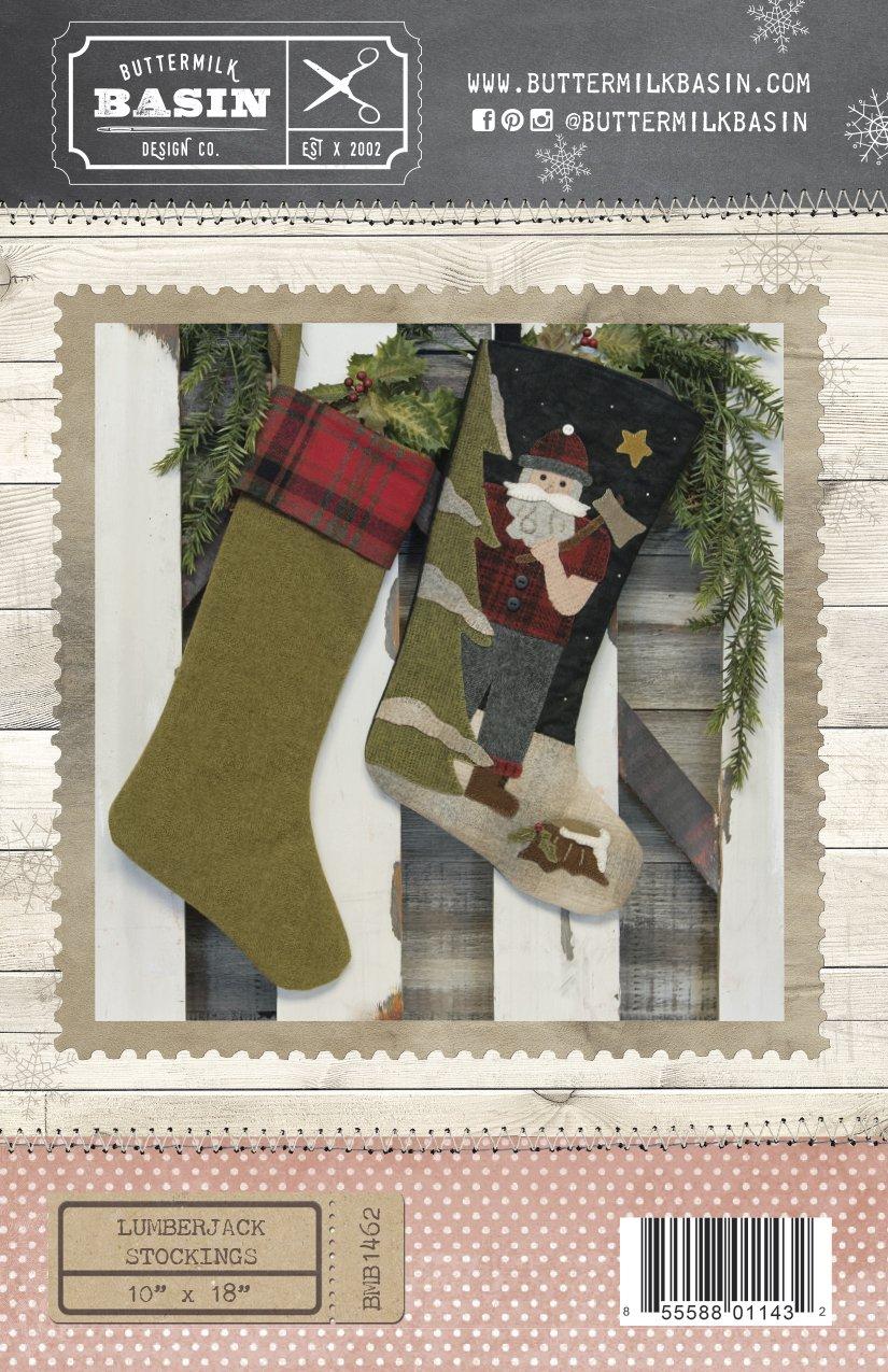 Lumberjack Stocking WOOL & FABRIC KIT & PATTERN