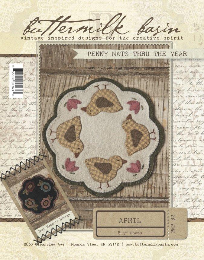Penny Mats Thru the Year:  April KIT & Pattern