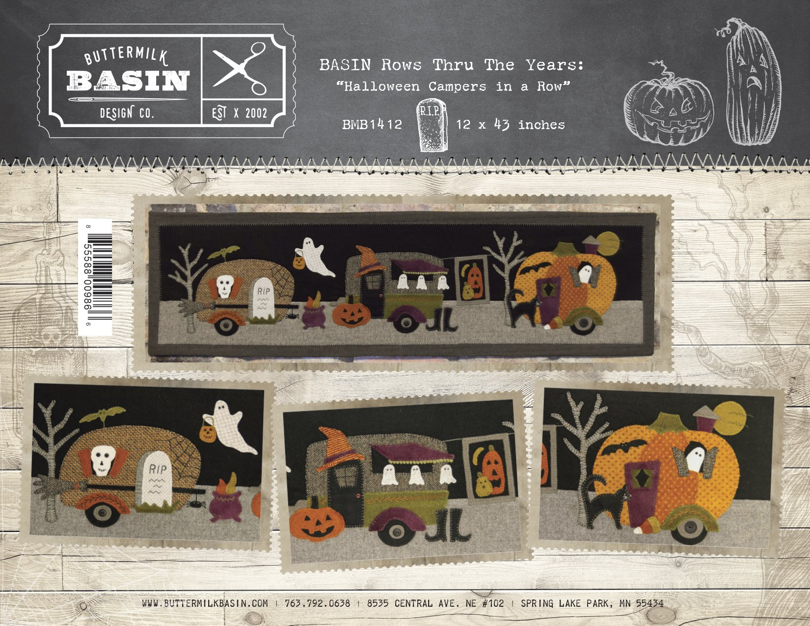 Halloween Campers in a Row  * KIT and Pattern