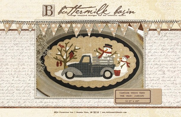 Vintage Trucks thru the Year * January KIT & Pattern