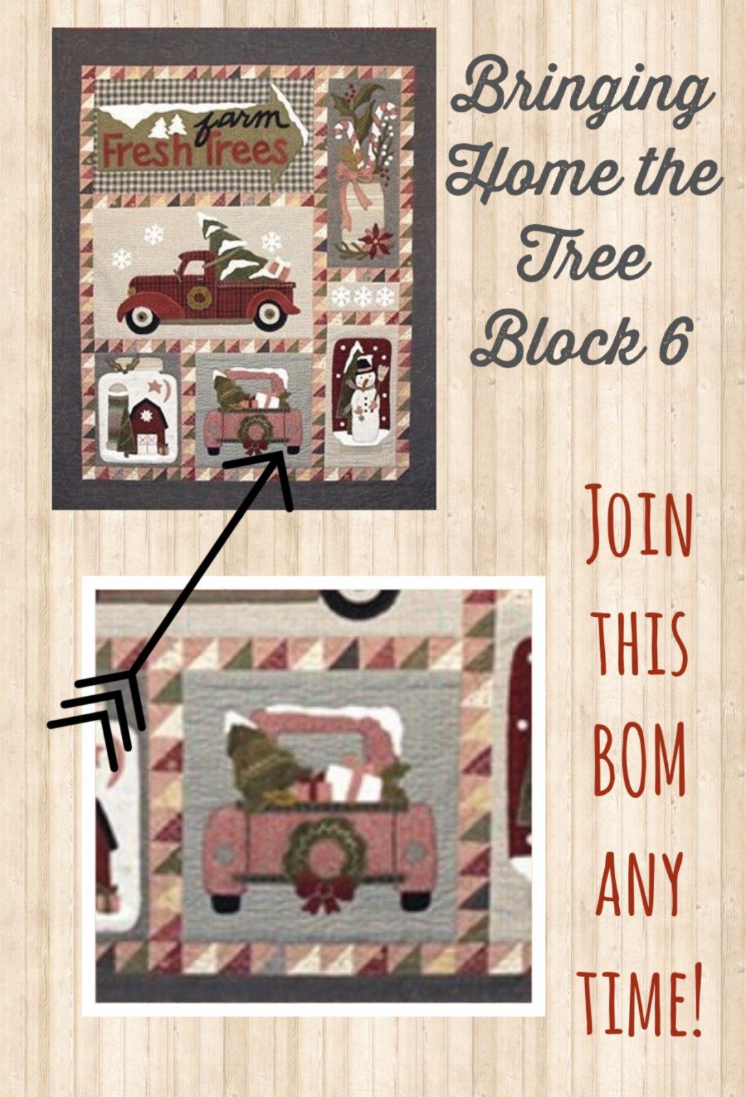 Block 6 Bringing Home the Tree KIT & Pattern
