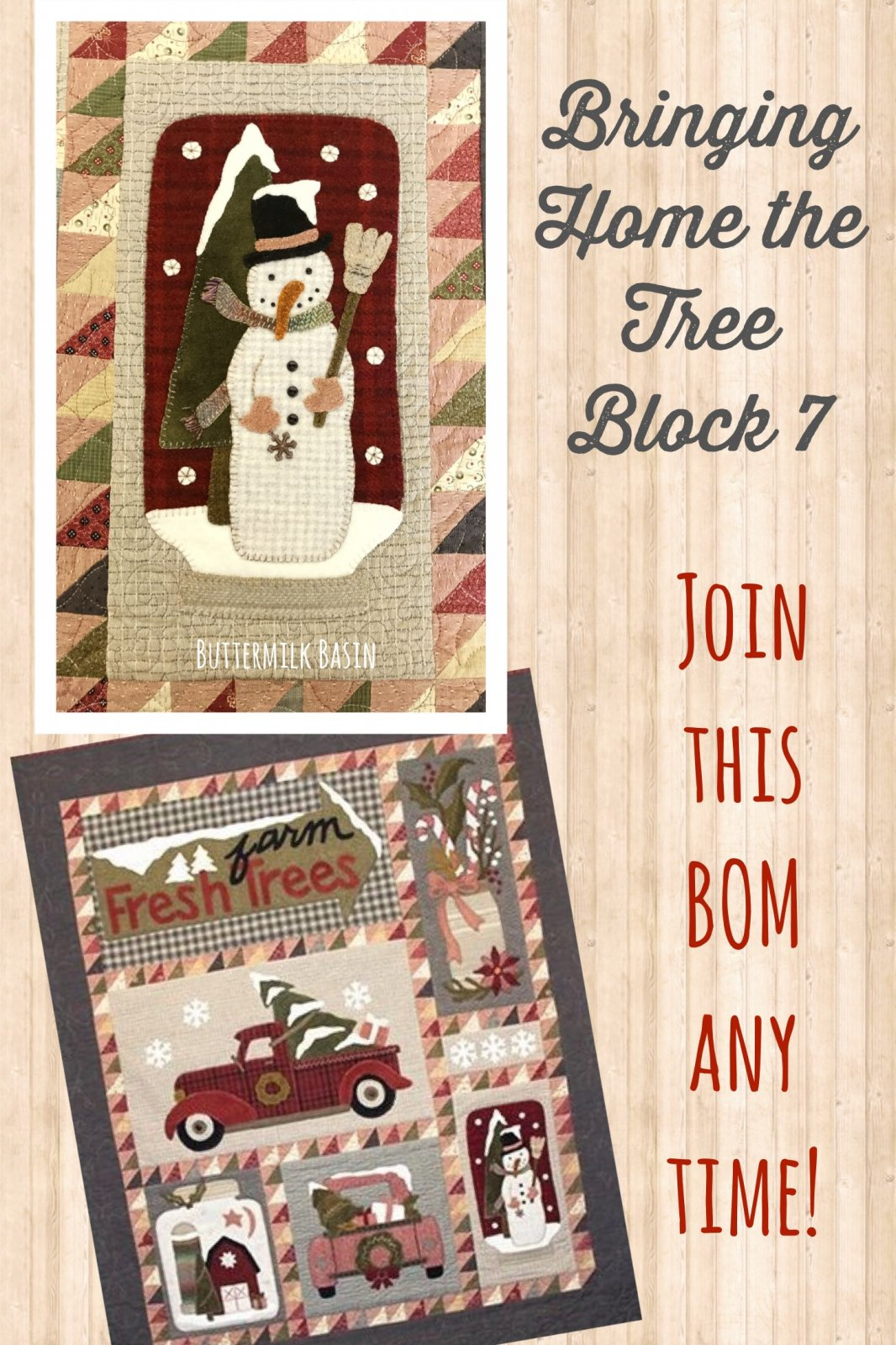 Block 7 Bringing Home the Tree KIT & Pattern