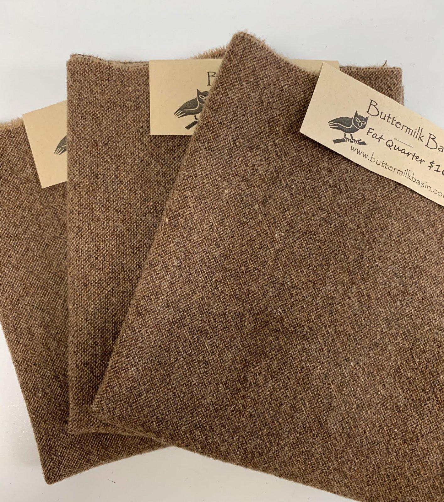 Brown Wool Fat Quarter