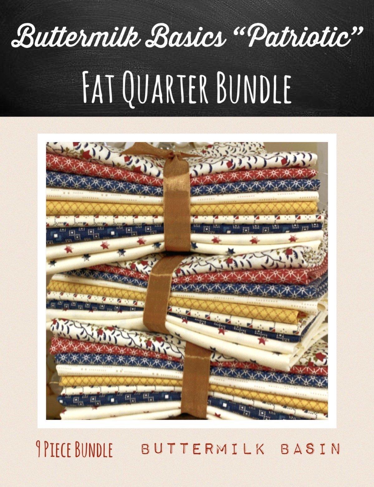 Buttermilk Basic's 9 Piece Fat Quarter Bundle * Patriotic