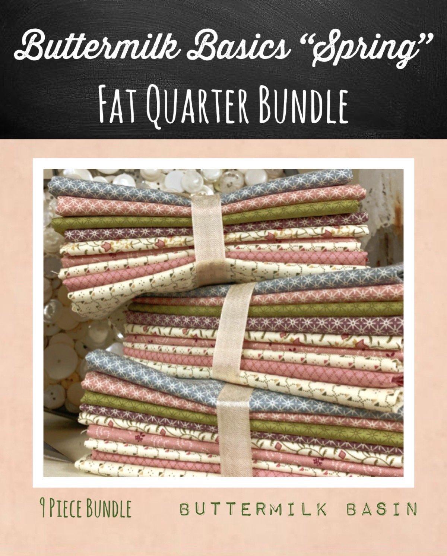 Buttermilk Basic's 9 Piece Fat Quarter Bundle * Spring