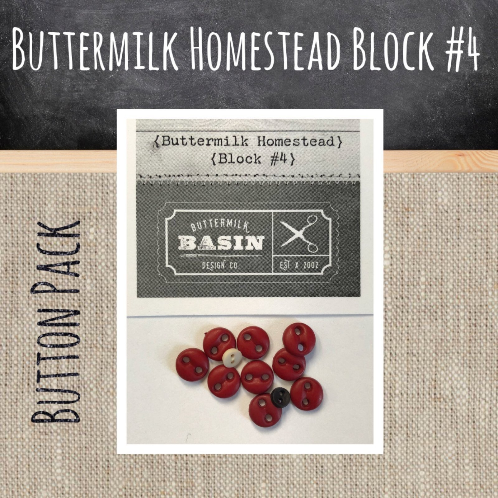 Button Pack for Buttermilk Homestead Block #4