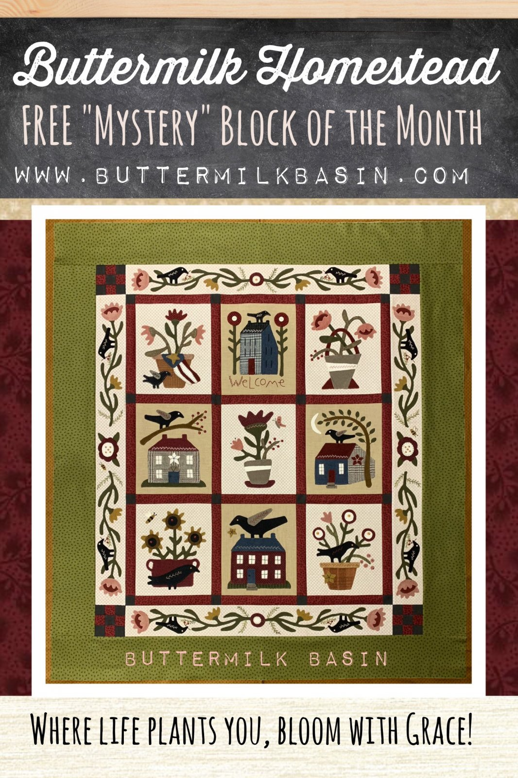 Buttermilk Homestead Mystery BOM Quilt Finishing Kit