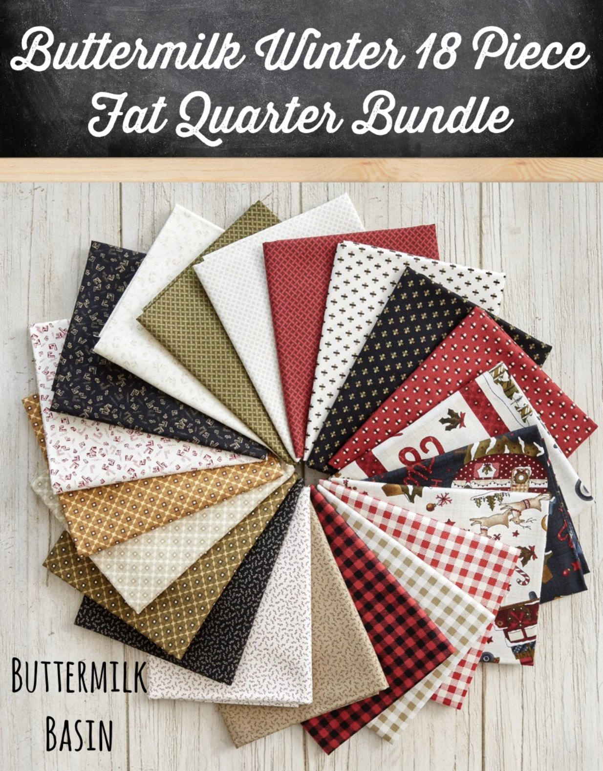 Buttermilk Winter * 18 Piece Fat Quarter Bundle