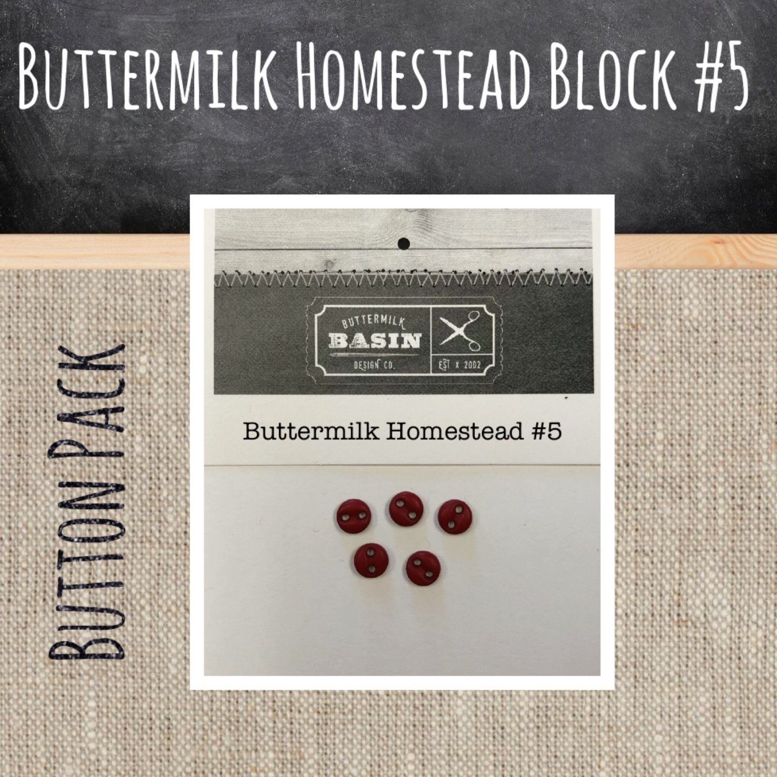 Button Pack for Buttermilk Homestead Block #5
